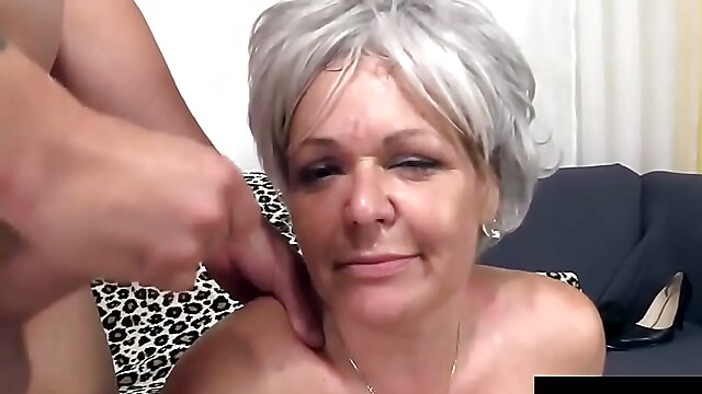 Obedient Grey Haired Granny Hates Facials In Her Mouth 1